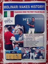Francesco Molinari 2018 British Open champion - souvenir print