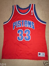 Grant Hill #33 Detroit Pistons Champion Red Edition NBA Jersey 48 Rookie