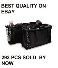 BNIB KANGAROO KEEPER INSTANT BAG PURSE HANDBAG ORGANIZER REMOVABLE  2 SET BLACK