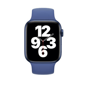 Silicone Sport iWatch Band Strap for Apple Watch Series 6 5 4 3(42/44MM-blue)