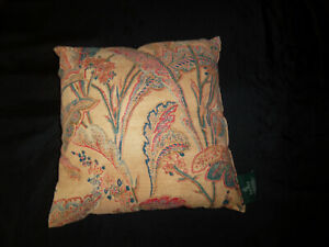 Ralph Lauren Coco Palm Leaf Decorative Complete Pillow Brown Leaf Red Green