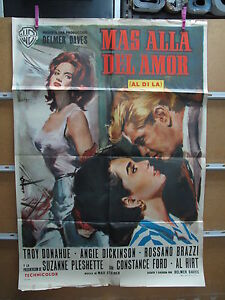 A3513 Más allá del amor Troy Donahue,  Angie Dickinson,  Rossano Brazzi,  Suzann