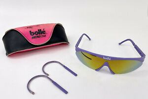 Bolle Microedge Cycling Sunglasses Road Bike Vintage Bollé Lavender Purple Rare