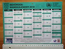 Kalender 2018 Halbjahresübersicht Januar bis Juni und Juli Dezember 29,5x21cm