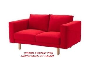 NORSBORG Complete COVER for 2-Seater Sofa ~ Finnsta Red | Brand NewIKEA