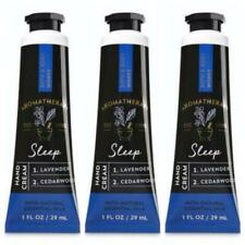 3 x Bath & Body Works Aromatherapy SLEEP LAVENDER CEDARWOOD Hand Cream 1 oz Lot
