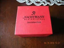 Crystal Napkin Rings - Nachtmann Bleikristall 24% Lead Crystal Germany - NIB