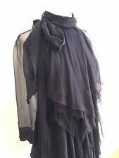 AUTH GIVENCHY Paris Black ruffle dress sz 38 Sm $3000 Made in Italy LBD Couture