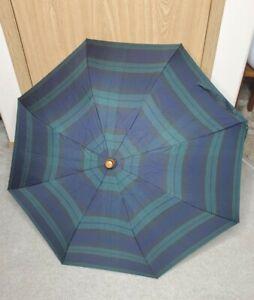 Polo Ralph Lauren Vintage Tartan Plaid Wooden Doorman Hook Umbrella