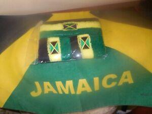 3 Pieces Unisex Jamaica Flag Print Stretch Head/arm Band Cotton weaved