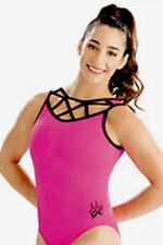 Aly Raisman Gk Elite Gymnastics Pink Vibrations Leotard Usa E3415 Adult Large Al