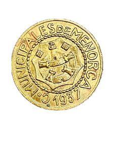 1937 Menorca Spain 25 Centimos BU