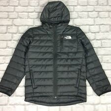 THE NORTH FACE BOYS BLACK HOODED PADDED PUFFA JACKET COAT RRP £90 AD