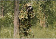 Durable Hunting Ghillie Suit Maple 3D Camo Leaf Camouflage Woodland Birdwatching