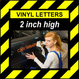 13 Characters 2 inch 50mm high pre-spaced stick on vinyl letters & numbers