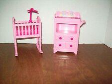 Barbie baby Krissy nursery room crib changing table play set Barbie & Friends