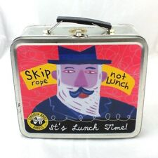 Einstein Bros Bagels Its Lunch Time Metal LunchBox Skip Rope Not Mentally Out To