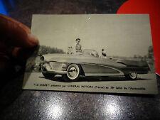 """Carte Publicitaire """"Le Sabre"""" par Général Motors au 38e Salon Automobile"""