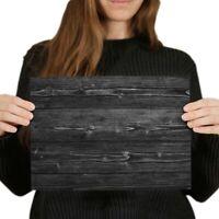 A4 BW - Dark Wood Effect Walnut Joiner Poster 29.7X21cm280gsm #35840