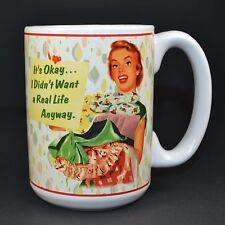 Retro 1950's Housewife Coffee Mug Cup Sarcastic Ironic