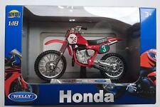 WELLY HONDA CR250R 1:18 DIE CAST MODEL NEW IN BOX LICENSED MOTORCYCLE