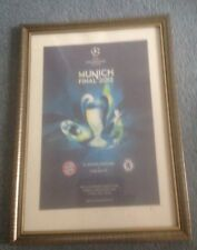 FRAMED CANVAS PRINT OF 2012 CHAMPIONS LEAGUE FINAL - CHELSEA V BAYERN MUNICH