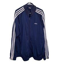 Mens Vintage Adidas Orginals Trefoil Full Zip Up Track Jacket Blue Size 2XL