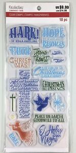 Recollections Christmas Cross & Religious Clear Stamp Set Greetings Phrases