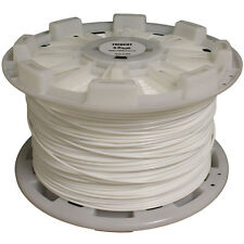 White Monofilament Equestrian Fencing Horses and Livestock - 8 Gauge - 2000ft.