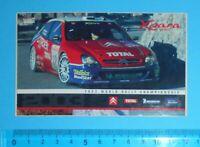 ADESIVO VINTAGE STICKER AUTO MOTO TUNING 2003 WORLD RALLY CHAMPIONSHIP 12x7 cm