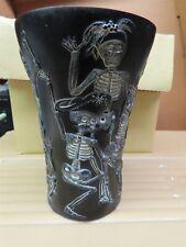 Harmony Kingdom Jardina Posada Day of the Dead Fe 00006000 st Black Vase