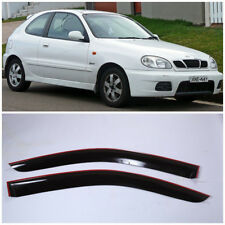 DE11197 Window Visors Vent Wide Deflectors For Daewoo Lanos Coupe 1997-2003
