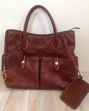 Dooney & Bourke Florentine Vacchetta Brown Leather East West Satchel Bag Purse