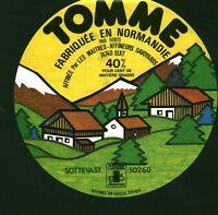 Etiquette de Fromage  Tomme de Normandie Cotentin    No 63