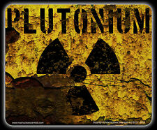 Radioactive Mouse Pad - Corroded Plutonium Container - Nuclear Trefoil (000036)