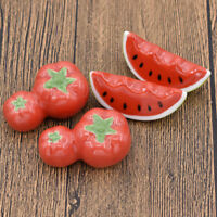 2 Pcs Creative Cute Ceramic Chopsticks Holder Stand Spoon Fork Watermelon Tomato