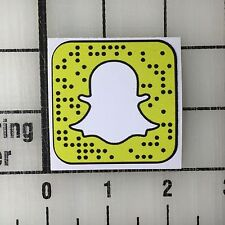 """Snapchat Logo 2"""" Wide Multi-Color Vinyl Decal Sticker - 4 Stickers Total"""
