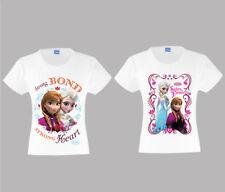 Elsa Mädchen-T-Shirts & -Tops mit Rundhals-Ausschnitt aus 100% Baumwolle