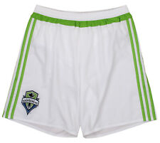 adidas Men's MLS Team Replica Short, Seattle Sounders FC- White/Green