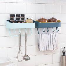 Bathroom Plastic Shelf Shower Shampoo Holder Storage Rack Organizer Punch-free