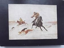 RUSSIA 1928. Hunting for a hare. Petr Sokolov. Post card.