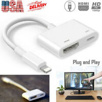 1080P Light To HDMI Digital AV TV Cable Adapter For iPad iPhone XS XR X 8 7 Plus