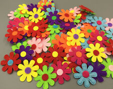 DIY 100X Flowers Felt Appliques Fabric Flower decoration Non-woven Crafts 27mm