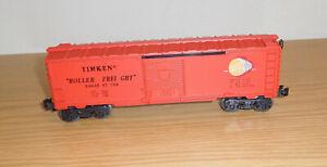 LIONEL TIMKEN ROLLER FREIGHT 6464-587 BURGUNDY BOXCAR TRAIN CAR O GAUGE CUSTOM