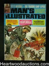 """Man's Illustrated"" May 1968 Sex and Baseball,Devil Worship,WWII Cover-High Gr"