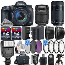 Canon EOS 7D Mark II DSLR Camera + 18-135mm IS STM + 55-250mm IS STM -64GB Kit !