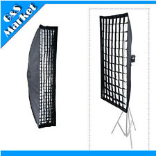 Photo Studio Honeycomb Grid Softbox 35x140cm with Bowens Mount for Strobe