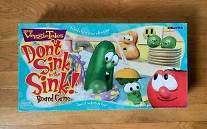 VeggieTales Don't Sink in the Sink Board Game, Big Ideas 1999,100% Complete!