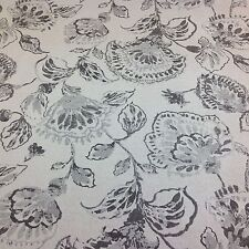 Fryetts Cotton PORTIA STONE Charcoal Floral  Fabric for Curtain/Upholstery/Craft