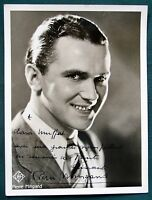 French Film Singer / Actor Pierre Mingand antique signed photograph